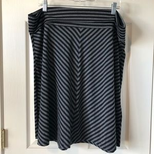 Old Navy XL Skirt Black and Gray